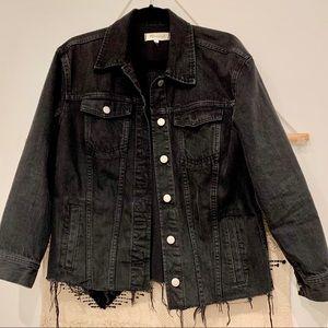 LIKE NEW Madewell Black Raw Hem Trucker Jacket